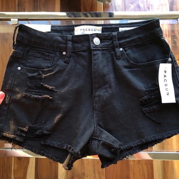 cf75cdafb4 PacSun Shorts   Distressed Black   Poshmark